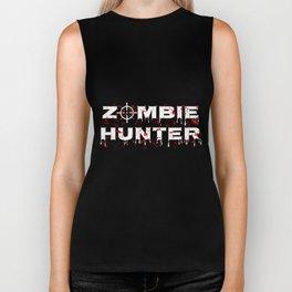 Zombie Hunter - Horror Infects Undead Blood Stain Biker Tank
