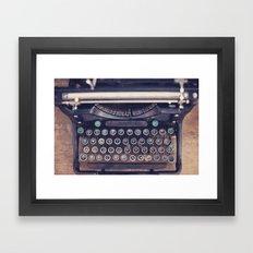 qwerty Framed Art Print