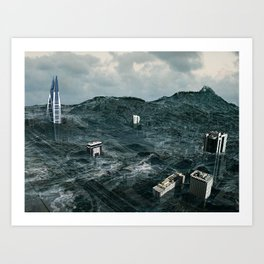 Survival of the tallest Art Print