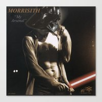 """arsenal Canvas Prints featuring Morrisith """"My Arsenal"""" by Ant Atomic"""