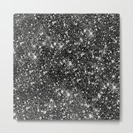 Stars Glitter Stars Metal Print