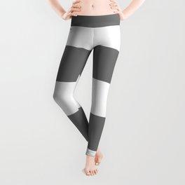 Grey and White Stripes Leggings