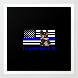 Police Dog Handler Art Print