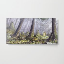 Totoro's Forest Metal Print