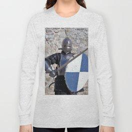 medieval armor swordsman Long Sleeve T-shirt