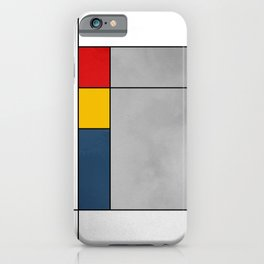 Red Yellow Blue Gray Geometric Abstract Pattern iPhone Case