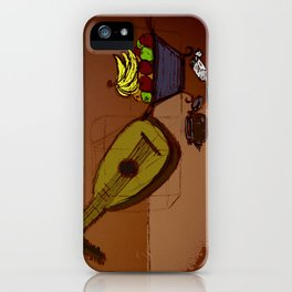 still life with lute and fruit iPhone Case