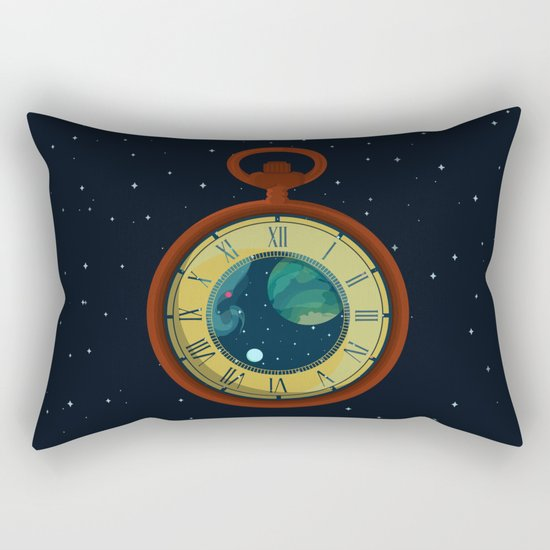 Cosmic Pocket Watch Rectangular Pillow