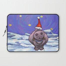 Hippopotamus Christmas Laptop Sleeve