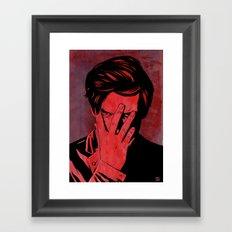 Somehow Shame Framed Art Print