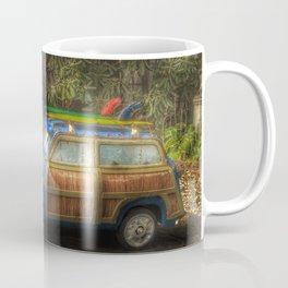 Off to Fulfill a Surfing Dream Coffee Mug