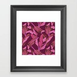 Tropical '17 - Ajaja [Banana Leaves] Framed Art Print