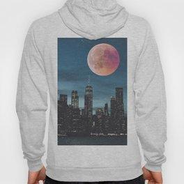 New York City Blood Moon Skyline Hoody