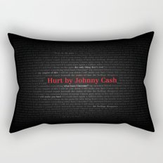 Hurt by Johnny Cash Rectangular Pillow