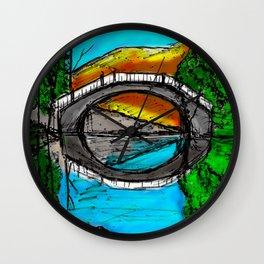 Bridge Reflection Marker #2 colored Wall Clock