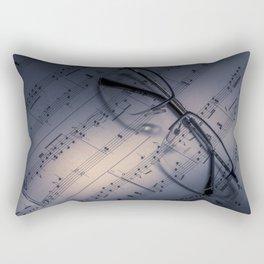 Glasses on Sheet Music Rectangular Pillow
