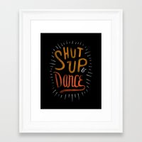dance Framed Art Prints featuring Dance by skitchism