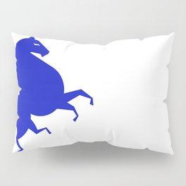 blue horse Pillow Sham