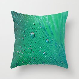 Emerald Feather Throw Pillow