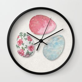 Shabby Chic Painted Eggs  Wall Clock