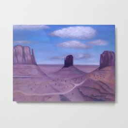 Scenic Monument Valley Metal Print