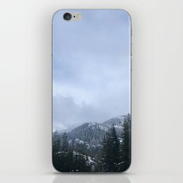 Snowy Peaks Above a Green Forest in Victoria, B.C. (Canada) iPhone Skin