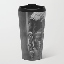 looking boy - black Travel Mug