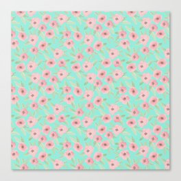 Pink & Turquoise Canvas Print