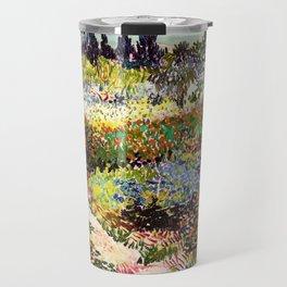 Vincent Van Gogh Flowering Garden Travel Mug