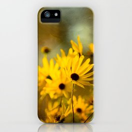 Autumn Botanical -- Painterly Sunflowers iPhone Case