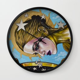 Eclipse 1 (Myth about the sun & stars) Wall Clock