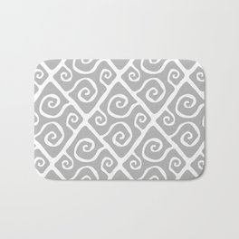 Diamond Pattern Gray Bath Mat
