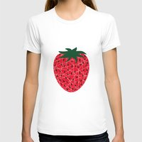 strawberry T-shirts featuring Strawberry by Dpat Designs
