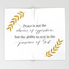 Peace in His Presence Throw Blanket