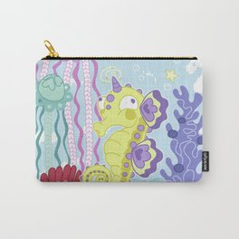 the Majestic Magical Seahorse Unicorn Carry-All Pouch