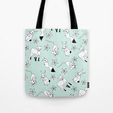 Woodland Creatures - Turquoise Tote Bag
