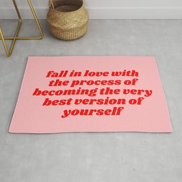 fall in love with the process Rug