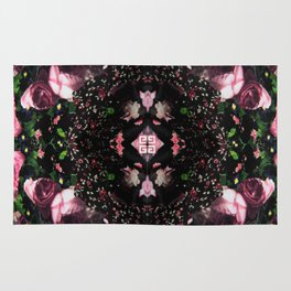 Givenchy all over flower and camo printed nightingale  with detachable shoulder strap and one int Rug