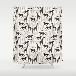 Safari Confetti Party Shower Curtain