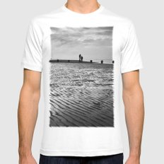 Couple on Cleethorpes Beach Mens Fitted Tee White MEDIUM