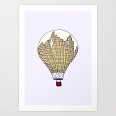 The Cold Ice Cream Hot Air Balloon Art Print