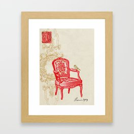 The Red Chair Framed Art Print