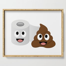 Poop and toilet tissue lovers Serving Tray
