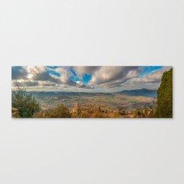 Pano shoot from Montepulciano Canvas Print