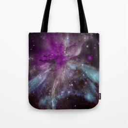 Creation of a Pink Nebula Tote Bag