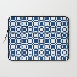 Geometry illusion in blue Laptop Sleeve