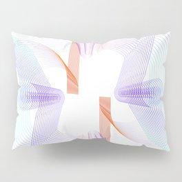 Rainbow geometric lineart Pillow Sham