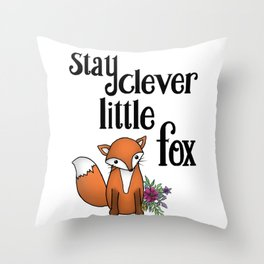 Clever Fox Throw Pillow