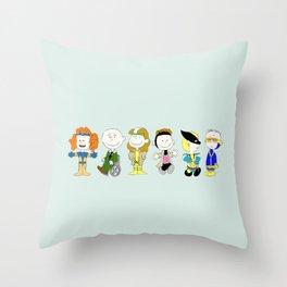 Mutant Superhero Friends Throw Pillow