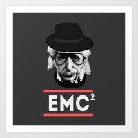 Albert Einstein Geeky Version Art Print
